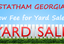 Statham GA – $75 Business License For Yard Sales?