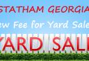 Statham GA – $75 Business License For Yard Sales?