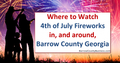 Where To Watch 4th of July Fireworks In/Around Barrow County/Winder Georgia